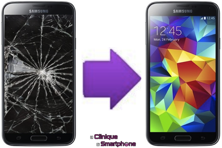 r paration ecran cass pour smartphone samsung galaxy s5 neo la clinique du smartphone. Black Bedroom Furniture Sets. Home Design Ideas