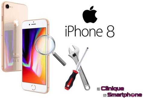 Recherche de panne iPhone 8