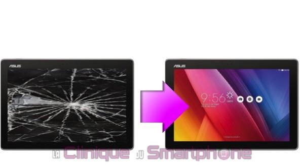 """Remplacement Vitre Tactile + Ecran LCD Zenpad 10"""" (Z300M / Z301M)"""
