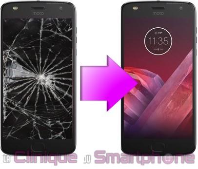 Remplacement Vitre Tactile + Ecran LCD Moto Z2 Play