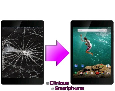 Remplacement Vitre tactile + Ecran LCD HTC Google Nexus 9