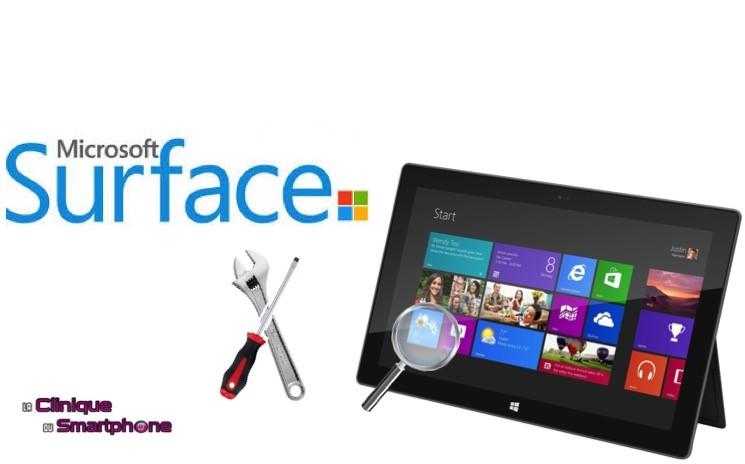 Recherche de panne Microsoft Surface (RT, 2, 3)