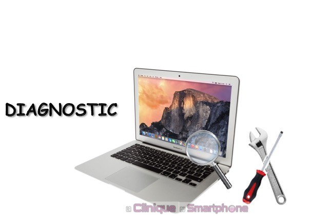 Recherche de panne Macbook Air