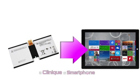 Remplacement Batterie Microsoft Surface 3