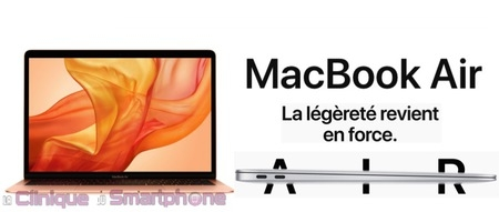 Macbook Air avec Ecran Retina (2018)