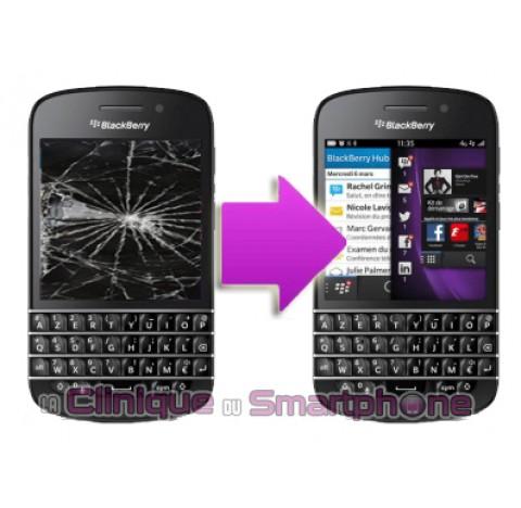 Changement bloc LCD + vitre tactile BlackBerry Q20