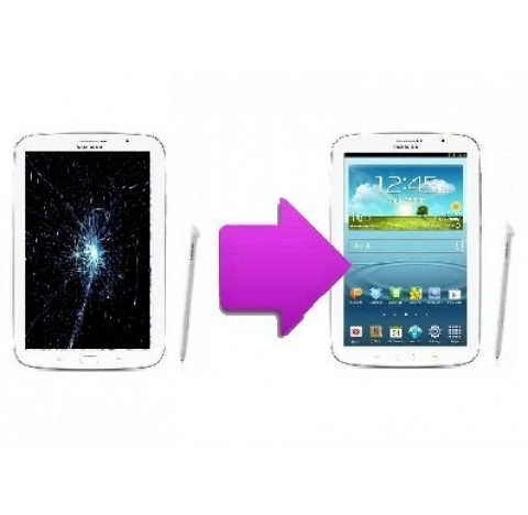 Changement vitre tactile + lcd Galaxy Note 8'' N5100