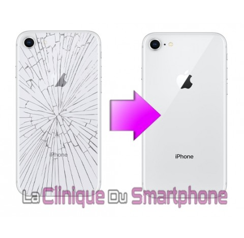 Remplacement vitre arrière iPhone 8