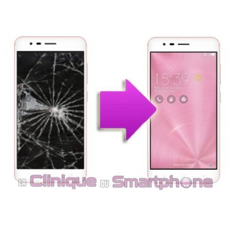 Changement Vitre Tactile + Ecran LCD Asus Zenfone 3 zoom
