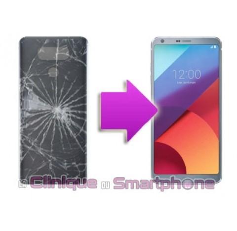 Remplacement vitre arrière LG G6