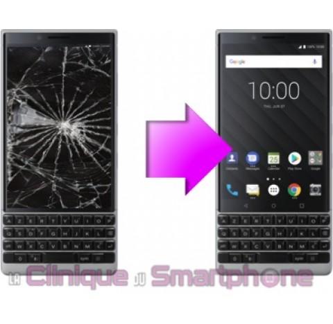 Remplacement Vitre Tactile + Ecran LCD pour Blackberry (Key2) KeyTwo