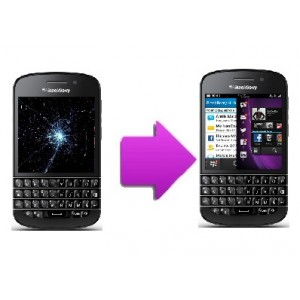 Changement bloc LCD + vitre tactile BlackBerry Q10