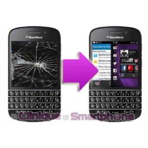 Changement bloc LCD + vitre tactile BlackBerry Q20