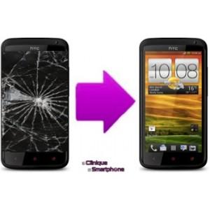 Changement bloc complet  tactile + LCD pour  HTC One X Plus