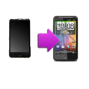 Changement LCD + vitre tactile HTC HD - G10