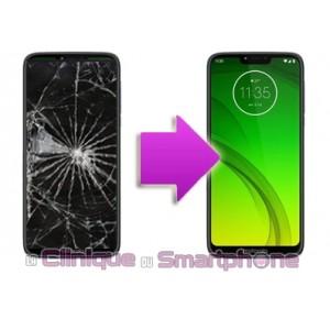 Remplacement Vitre Tactile + Ecran LCD Motorola G7 Power