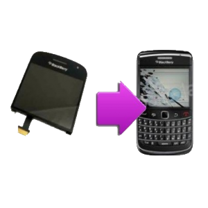 Changement bloc LCD + vitre tactile BlackBerry Bold 9900
