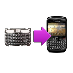 Changement clavier QWERTY BlackBerry Curve 8520