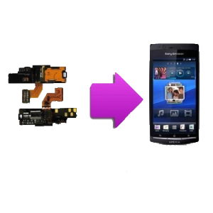 Changement nappe power Sony Xperia x12