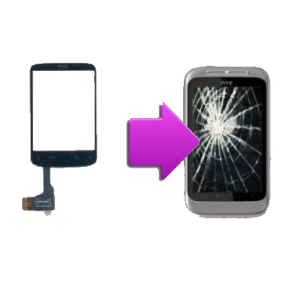 Changement vitre tactile HTC Wild Fire S - G13