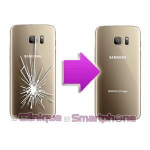 Remplacement Vitre arriere Samsung Galaxy S7 Edge (G935F)