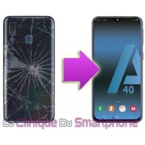 Remplacement vitre arrière Samsung Galaxy A40