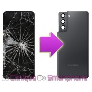 Remplacement Vitre arrière Samsung Galaxy S21/S21+/S21 ultra à partir de