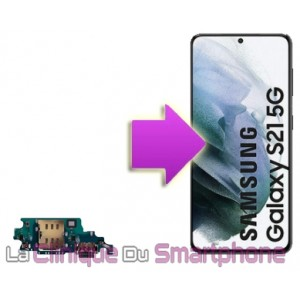 Remplacement connecteur de charge Samsung Galaxy S21 / S21+ / S21 Ultra