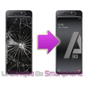 Remplacement Vitre tactile + Ecran Amoled Samsung Galaxy A80 (A805F)