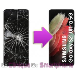 Remplacement bloc écran complet Samsung Galaxy S21 Ultra 5G (G998B)