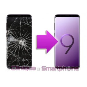 Remplacement Vitre Tactile + Ecran Amoled Samsung Galaxy S9+