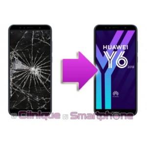 Remplacement Vitre Tactile + Ecran LCD Huawei Y6 - 2018