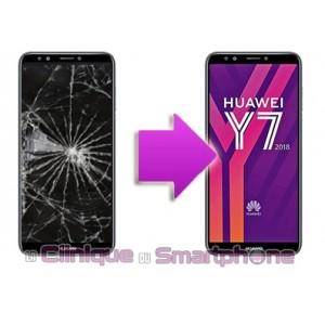 Remplacement Vitre Tactile + Ecran LCD Huawei Y7 - 2018