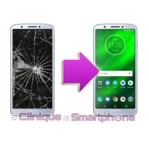 Remplacement Vitre Tactile + Ecran LCD Motorola G6 Plus