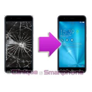 Changement Vitre Tactile + Ecran LCD Asus Zenfone Zoom S