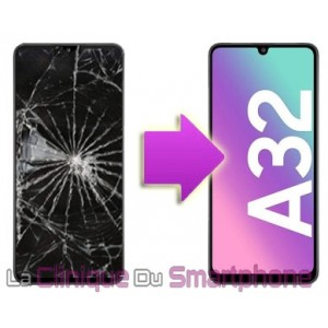 Remplacement Vitre tactile + Ecran Amoled Samsung Galaxy A32 - 4G