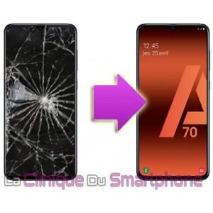 Remplacement Vitre tactile + Ecran Amoled Samsung Galaxy A70 (A705F)