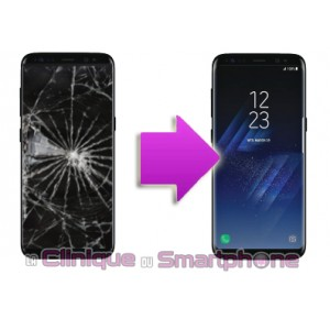 Remplacement Ecran LCD + Vitre tactile Samsung Galaxy S8 +