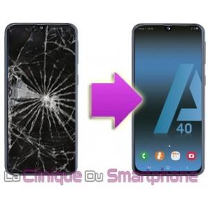 Remplacement Vitre Tactile + Ecran Samsung Galaxy A40