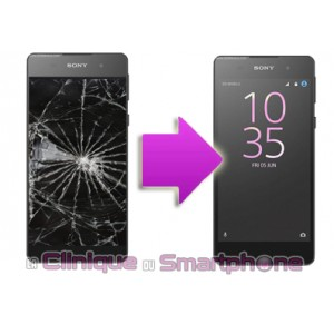Remplacement Vitre Tactile + Ecran LCD Sony Xperia E5