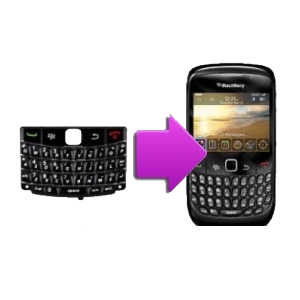 Changement clavier QWERTY BlackBerry curve 9360