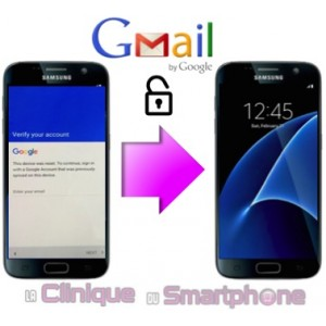 Déblocage compte Google smartphone Samsung