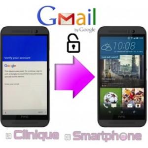Déblocage compte Google smartphone HTC