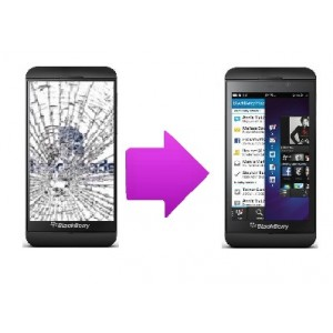Changement bloc LCD + vitre tactile BlackBerry Z10