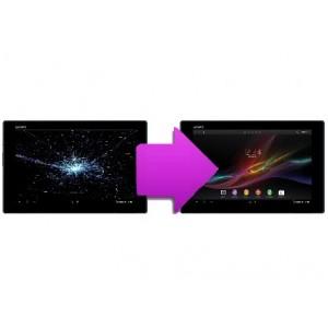 Changement bloc écran  tablette Sony Tab Z4