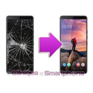 Remplacement Vitre tactile + Ecran LCD HTC U12+