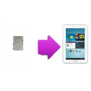 "Changement lecteur SIM  SAMSUNG Galaxy tab 2 7"" (P3100)"