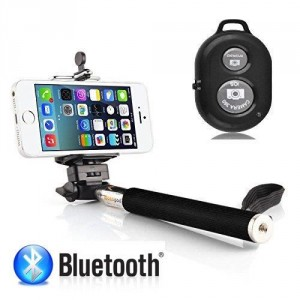 Perche Selfie avec télécommande Bluetooth