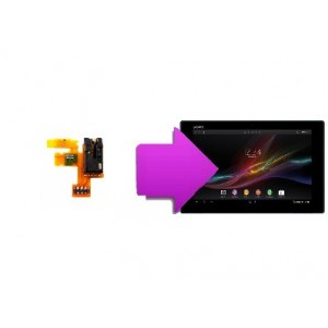 Changement nappe power/jack Sony Tab Z