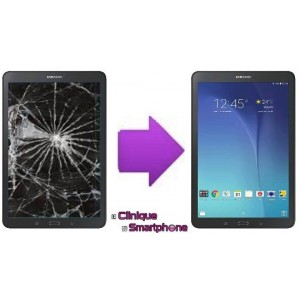 "Remplacement Vitre Tactile + Ecran LCD Samsung Galaxy Tab E 9.6"" ( T-560 )"